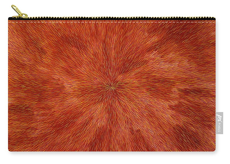 Abstract Carry-all Pouch featuring the painting Radiation with Brown Yellow and Voilet by Dean Triolo