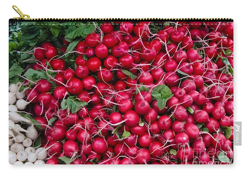 Radish Carry-all Pouch featuring the photograph Radishes by Thomas Marchessault