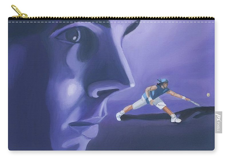 Raphael Carry-all Pouch featuring the painting Rafael Nadal by Quwatha Valentine