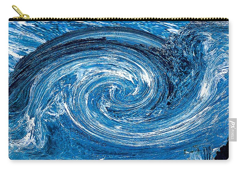 River Carry-all Pouch featuring the photograph Raging River by DigiArt Diaries by Vicky B Fuller