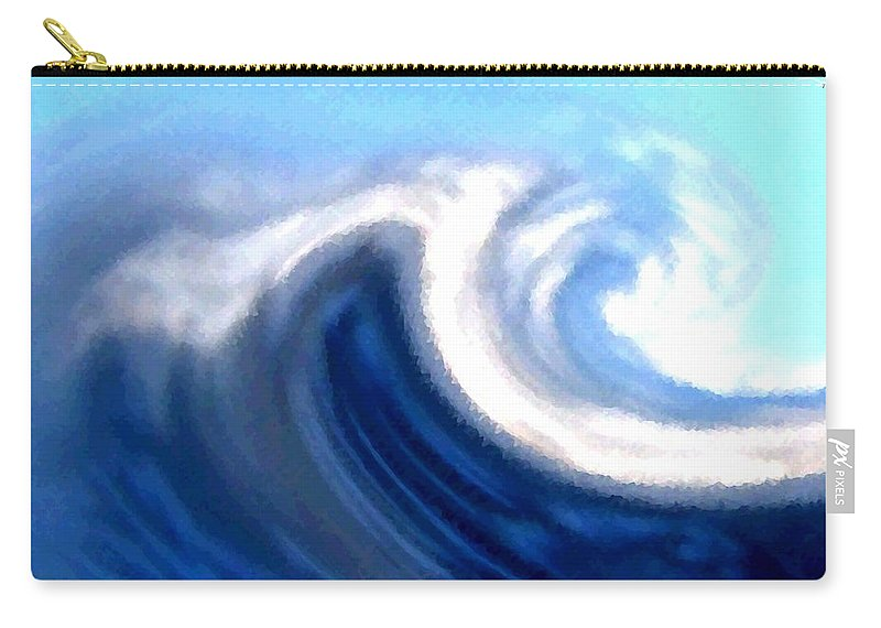 Abstract Carry-all Pouch featuring the digital art Raging Sea by Will Borden