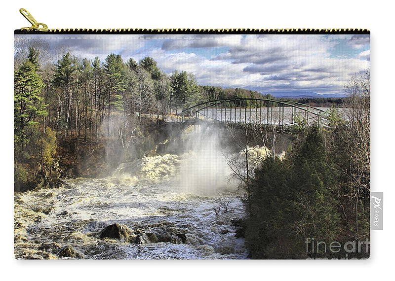 Falls Carry-all Pouch featuring the photograph Raging Water by Deborah Benoit