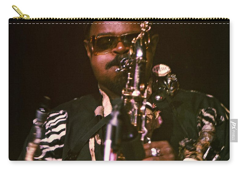 Rahsaan Roland Kirk Carry-all Pouch featuring the photograph Rahsaan Roland Kirk 3 by Lee Santa