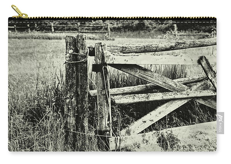 Rail Carry-all Pouch featuring the photograph Rail Fence by JAMART Photography