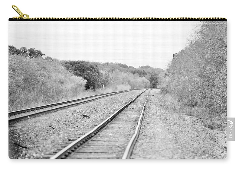 Carry-all Pouch featuring the photograph Rails 004 by Jeff Downs