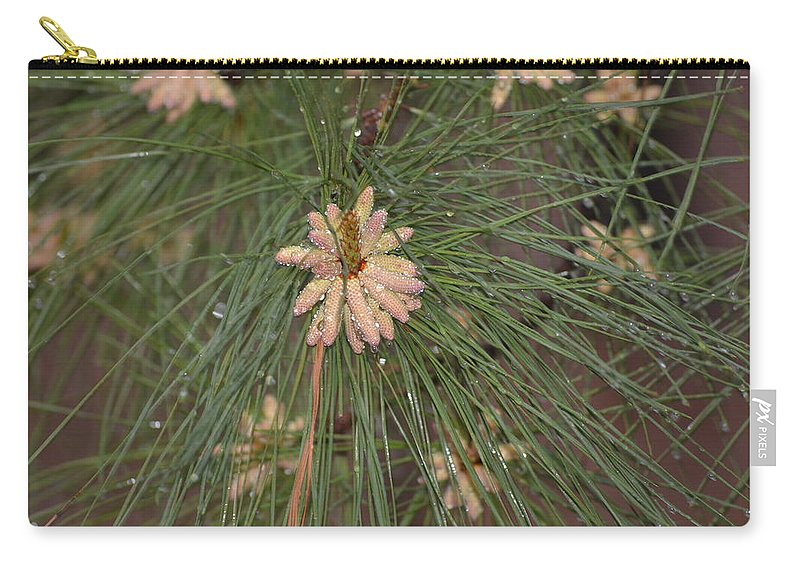 Rain Carry-all Pouch featuring the photograph Rain N Flower by Meg M