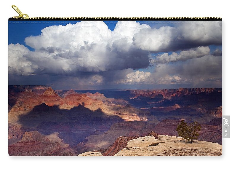 Grand Canyon Carry-all Pouch featuring the photograph Rain Over The Grand Canyon by Mike Dawson