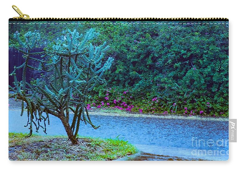 Rain Carry-all Pouch featuring the photograph Rain Storm On Lake Linda by William H Freeman Jr