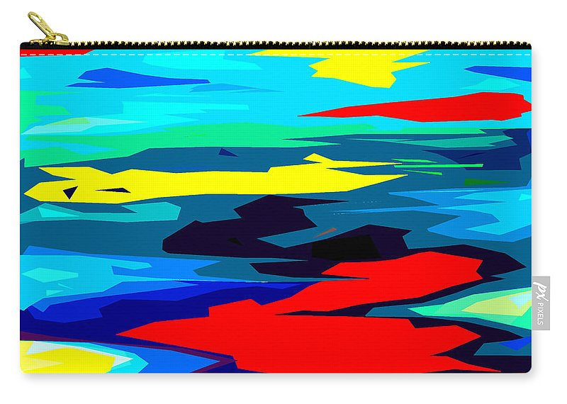 Colors Of The Rainbow Carry-all Pouch featuring the painting Rainbow 4 by Patrick J Murphy
