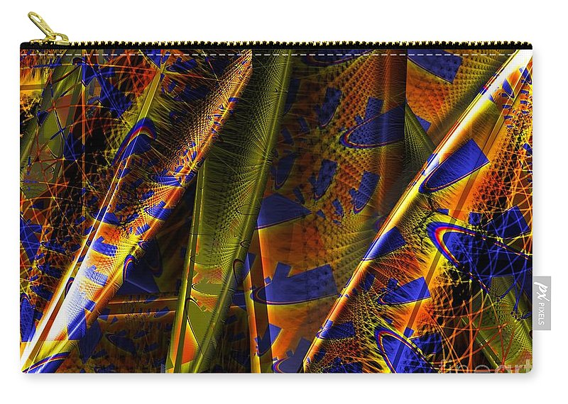 Rainbow Carry-all Pouch featuring the digital art Rainbow Baleen Stack by Ron Bissett