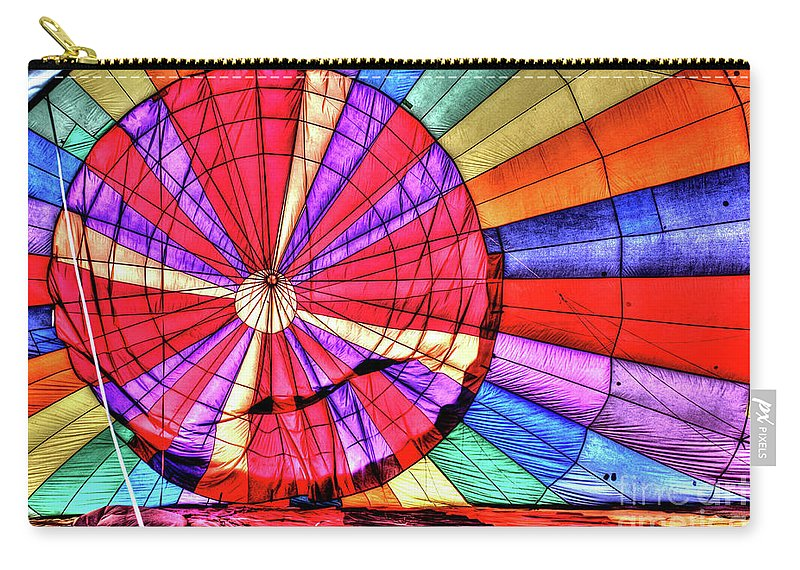 Ascension Carry-all Pouch featuring the photograph Rainbow Balloon by Tommy Anderson