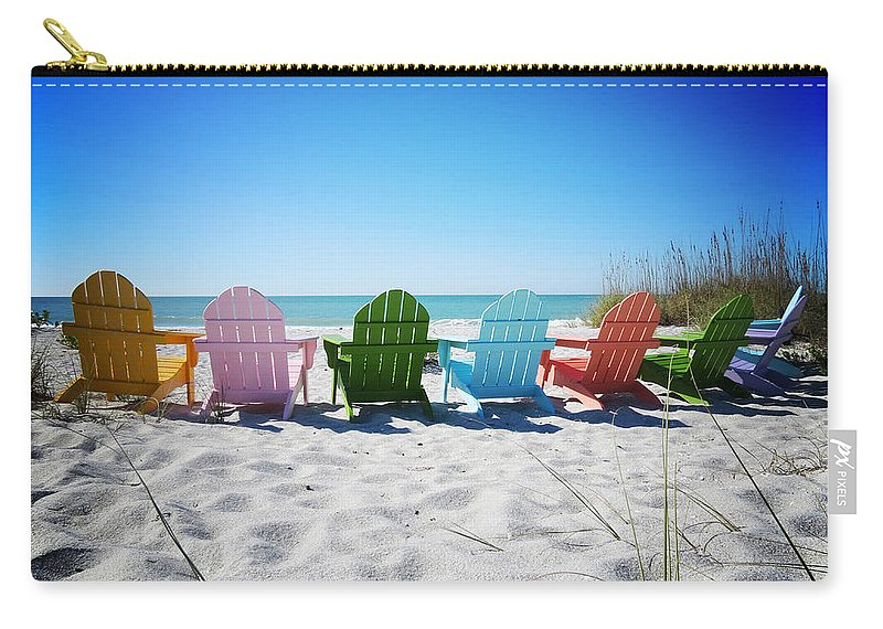 Florida Carry-all Pouch featuring the photograph Rainbow Beach Vanilla Pop by Chris Andruskiewicz