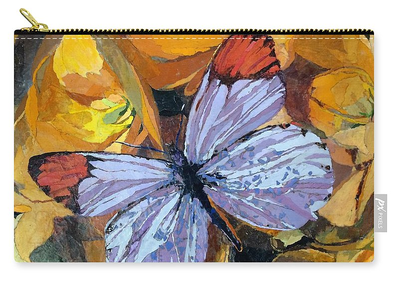 Butterfly Carry-all Pouch featuring the painting Rainbow Butterfly, For Matisse by Leah Tomaino