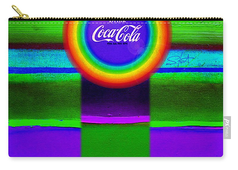 Violet Carry-all Pouch featuring the painting Rainbow by Charles Stuart