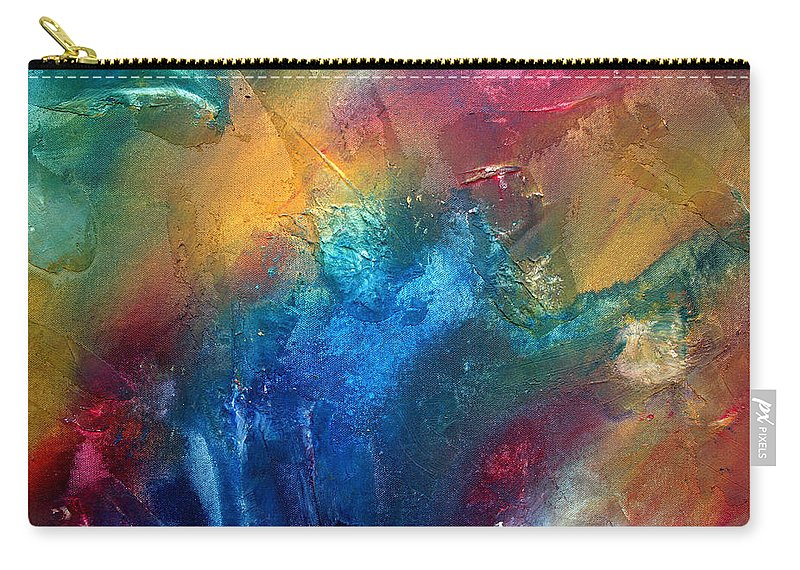 Wall Carry-all Pouch featuring the painting Rainbow Dreams II By Madart by Megan Duncanson