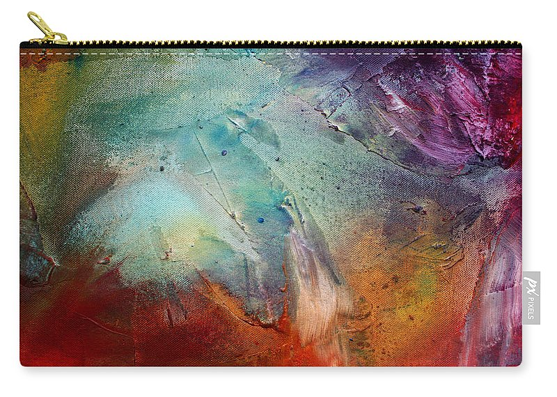 Wall Carry-all Pouch featuring the painting Rainbow Dreams IIi By Madart by Megan Duncanson