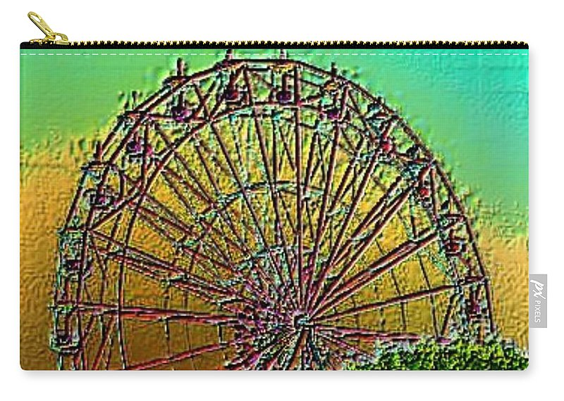 Rainbow Carry-all Pouch featuring the photograph Rainbow Ferris Wheel by Tim Allen