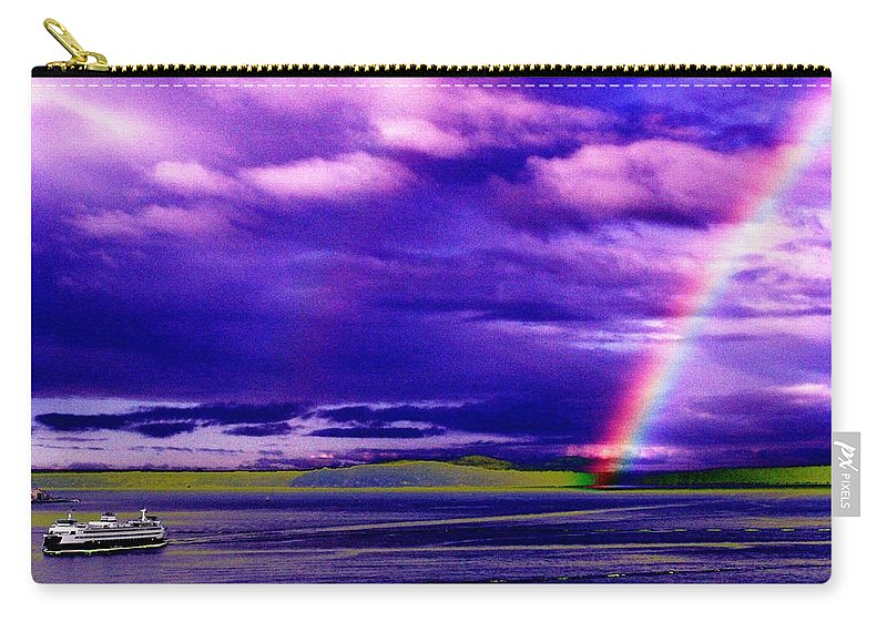 Seattle Carry-all Pouch featuring the photograph Rainbow Ferry by Tim Allen
