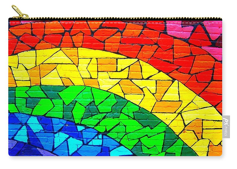 Rainbow Carry-all Pouch featuring the photograph Rainbow ... by Juergen Weiss
