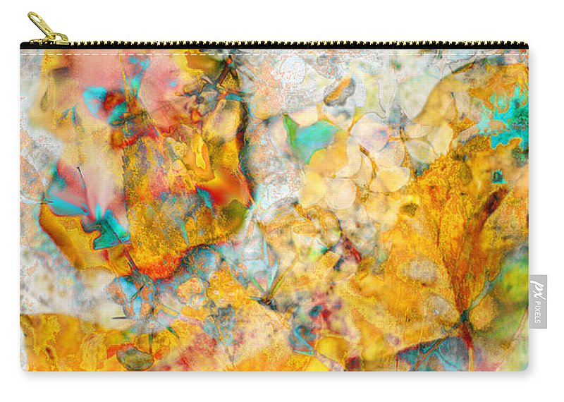 Rainbow Leaves Carry-all Pouch featuring the photograph Rainbow Leaves Aqua by Suzanne Powers