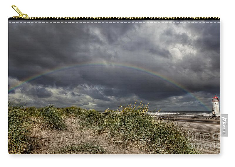 Rainbow Carry-all Pouch featuring the photograph Rainbow Lighthouse by Adrian Evans