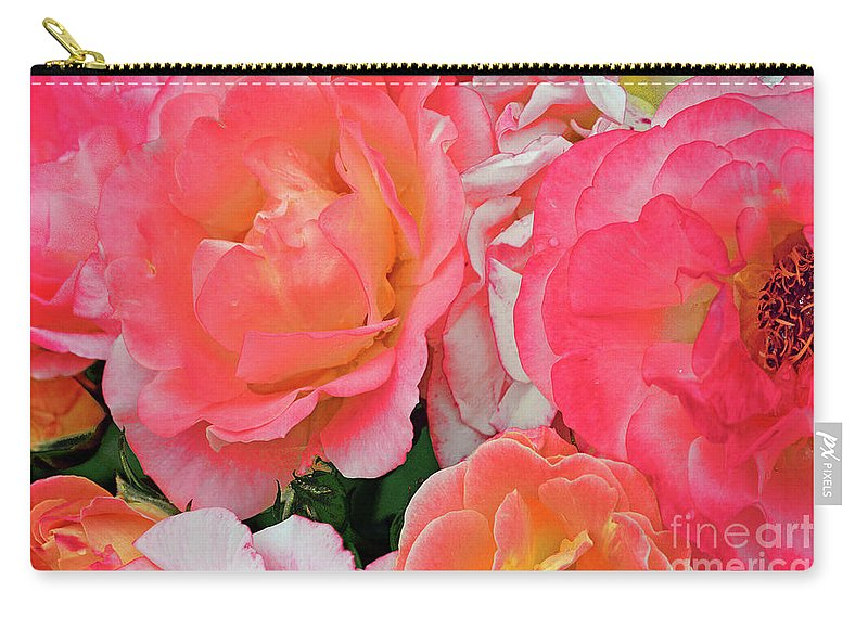 Rose Carry-all Pouch featuring the photograph Rainbow Of Roses by Regina Geoghan