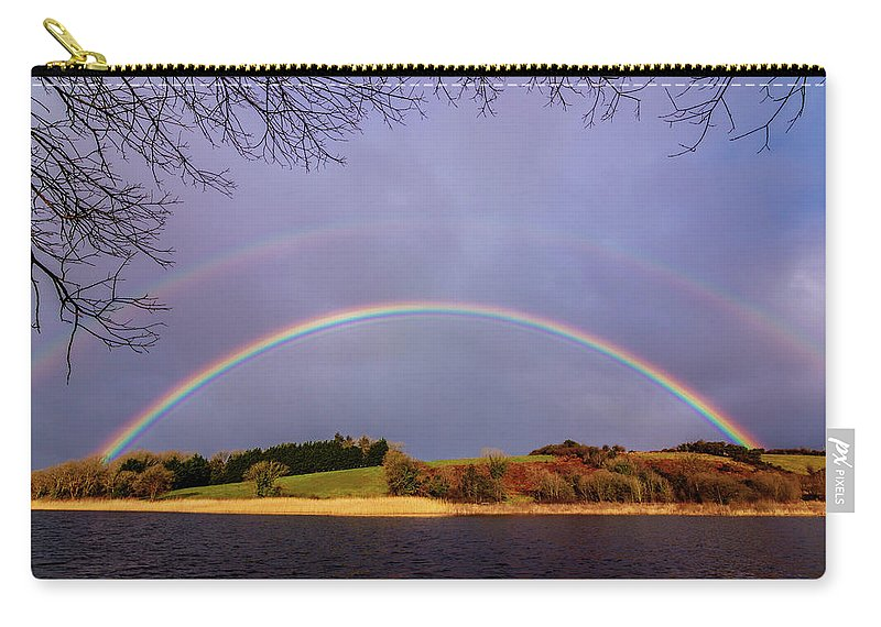 Rainbow Carry-all Pouch featuring the photograph Rainbow On The Double by Michael Kinsella