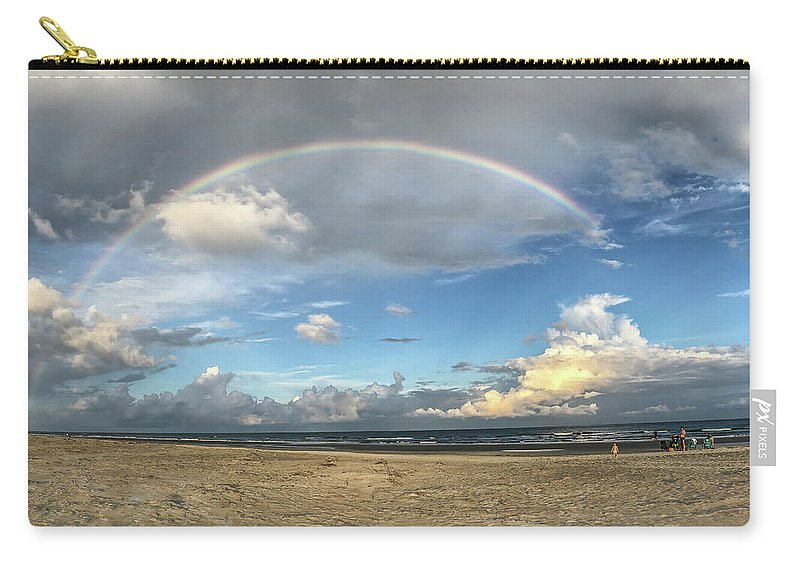 Rainbow Carry-all Pouch featuring the photograph Rainbow Over Ocean by Patricia Schaefer
