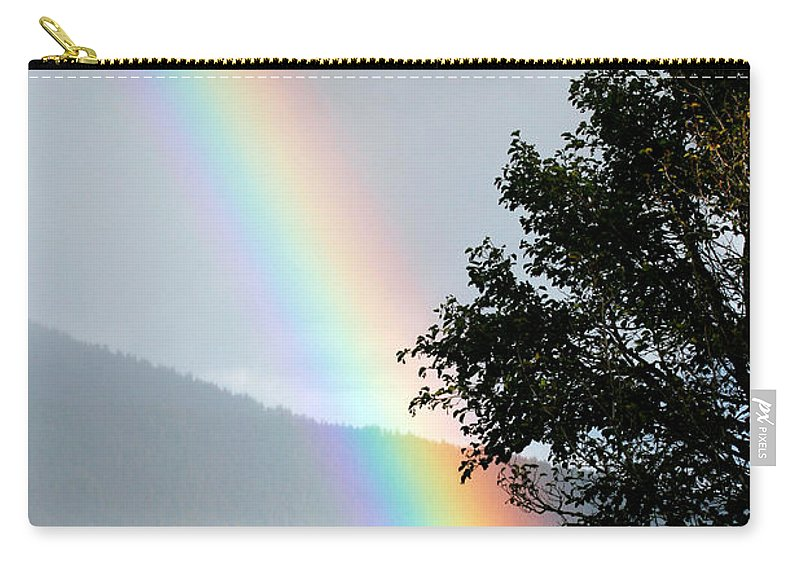 Color Carry-all Pouch featuring the photograph Rainbow Over Odell by Randall Ingalls