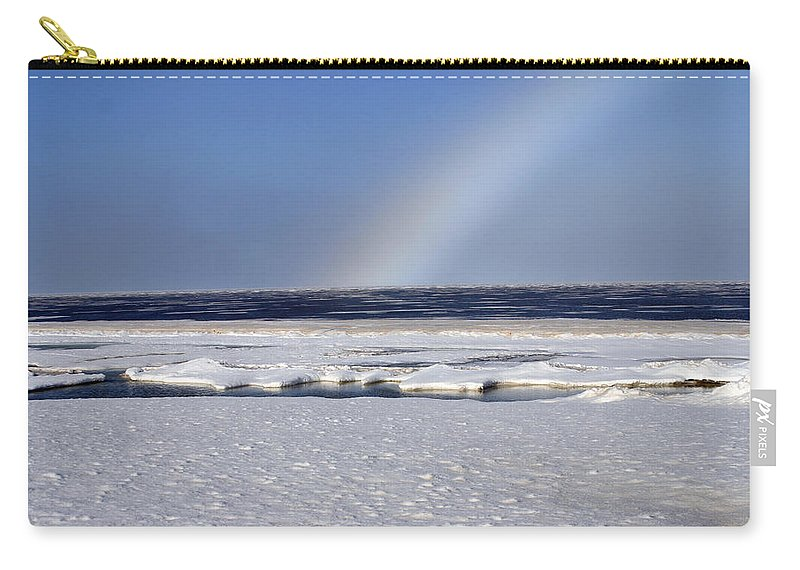 Rainbow Carry-all Pouch featuring the photograph Rainbow Over The Arctic by Anthony Jones