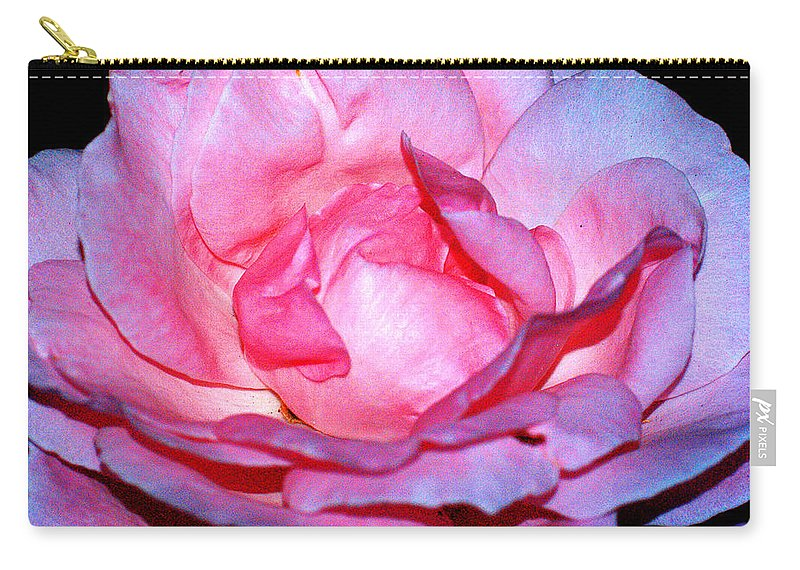 Clay Carry-all Pouch featuring the photograph Rainbow Rose by Clayton Bruster