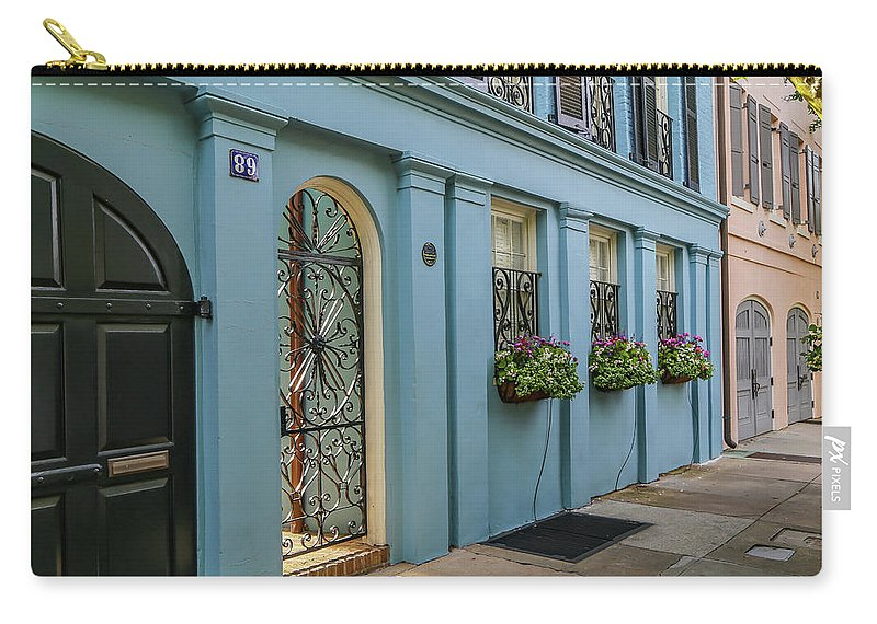 Pastels Carry-all Pouch featuring the photograph Rainbow Row by Kevin Craft