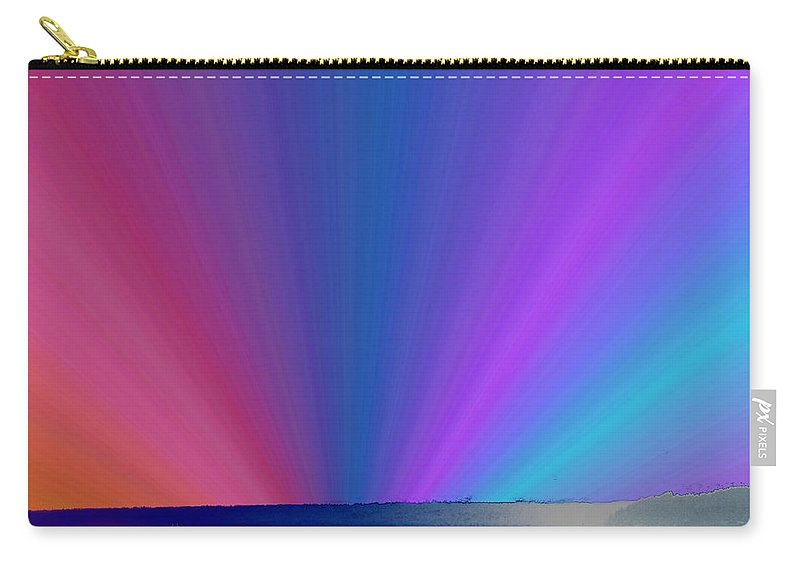 Ferry Carry-all Pouch featuring the photograph Rainbow Setting by Tim Allen