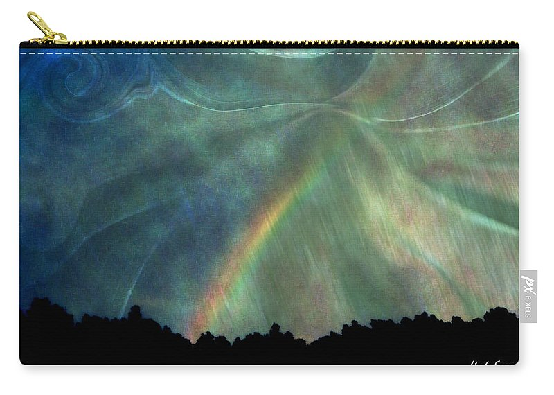 Nature Carry-all Pouch featuring the photograph Rainbow Showers by Linda Sannuti