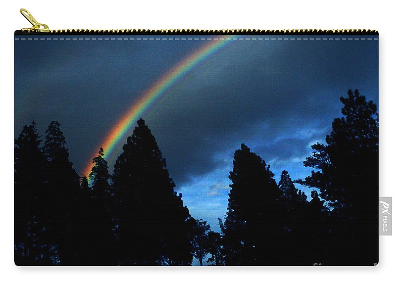 Rainbow Carry-all Pouch featuring the photograph Rainbow Sky by Peter Piatt