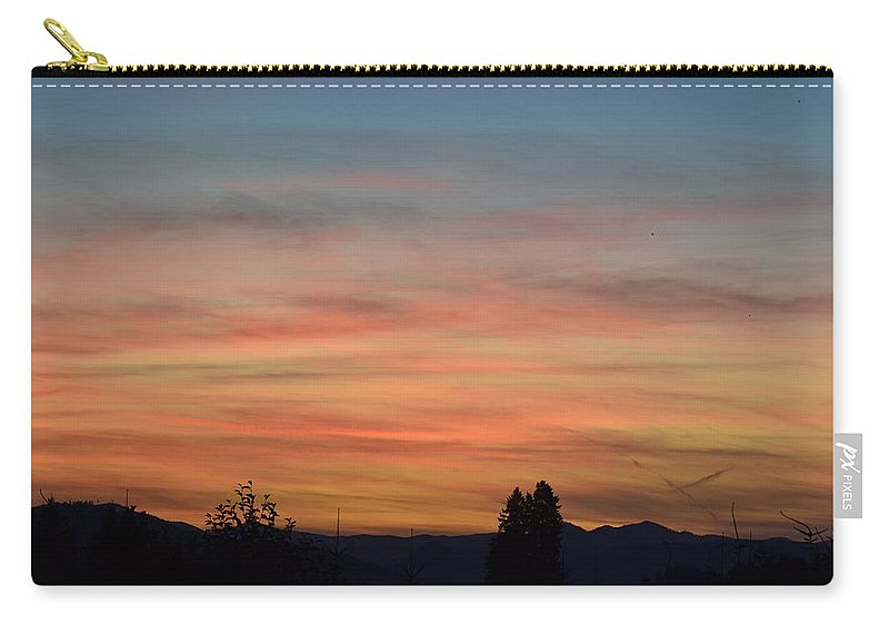 Rainbow Carry-all Pouch featuring the photograph Rainbow Sky by Robin White