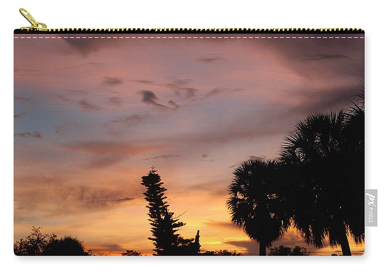 Sunset Carry-all Pouch featuring the photograph Rainbow Sunset by Rob Hans