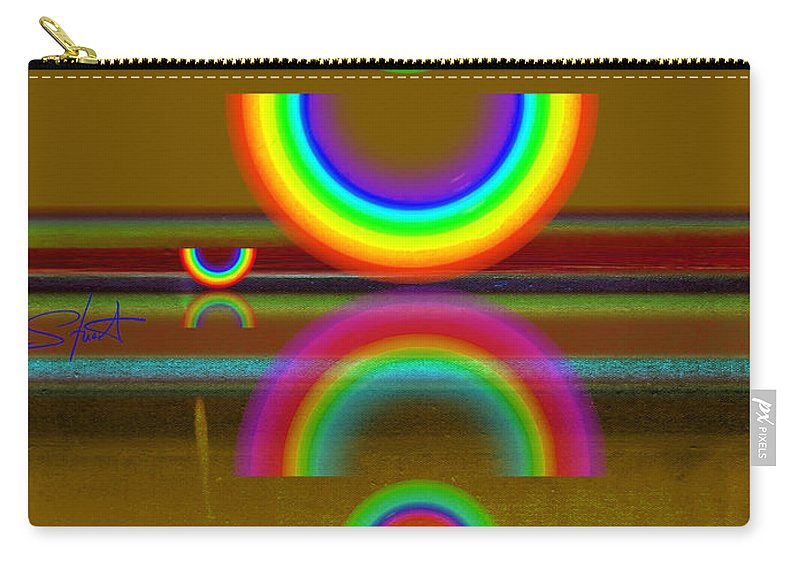 Reflections Carry-all Pouch featuring the painting Rainbow Warrior by Charles Stuart