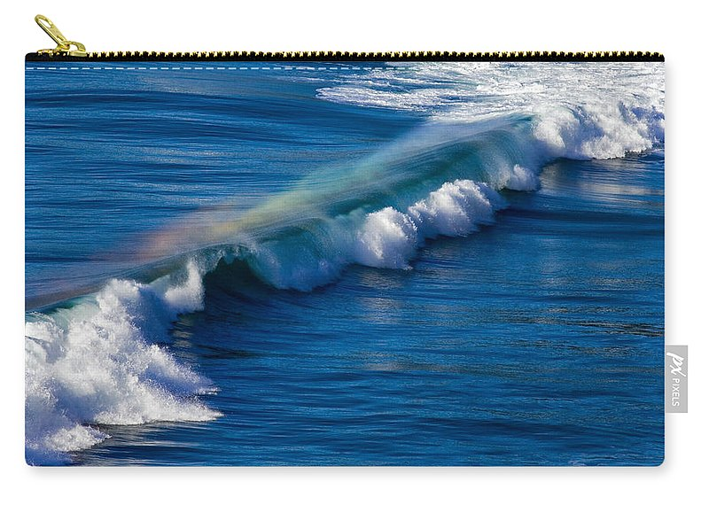 Rainbow Carry-all Pouch featuring the photograph Rainbow Wave by Randall Ingalls