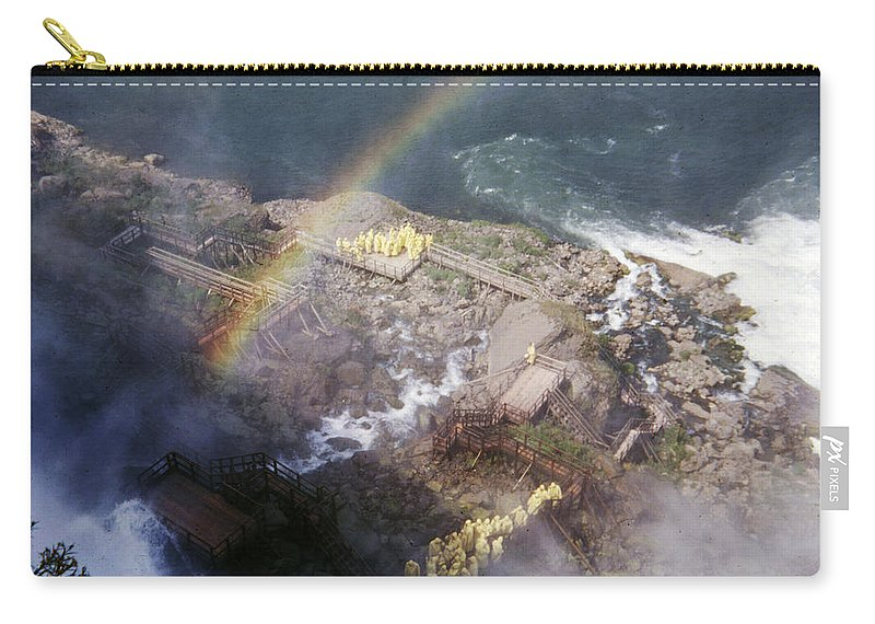 Mist Carry-all Pouch featuring the photograph Rainbowoverthemist by Delbert Larkin