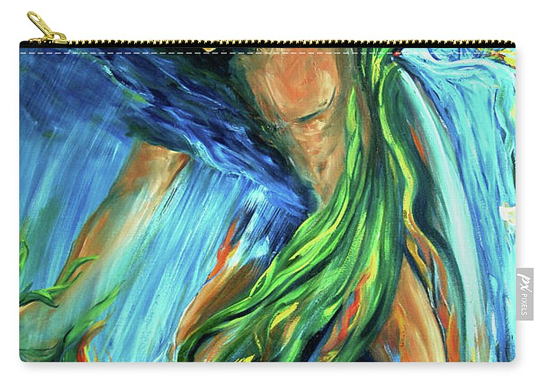 Vision Quest Carry-all Pouch featuring the photograph Raindancer by Jennifer Christenson