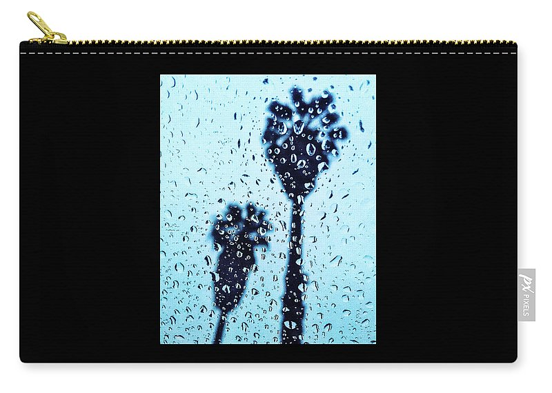 Raindrop Carry-all Pouch featuring the photograph Raindrop Palms by Braden Moran