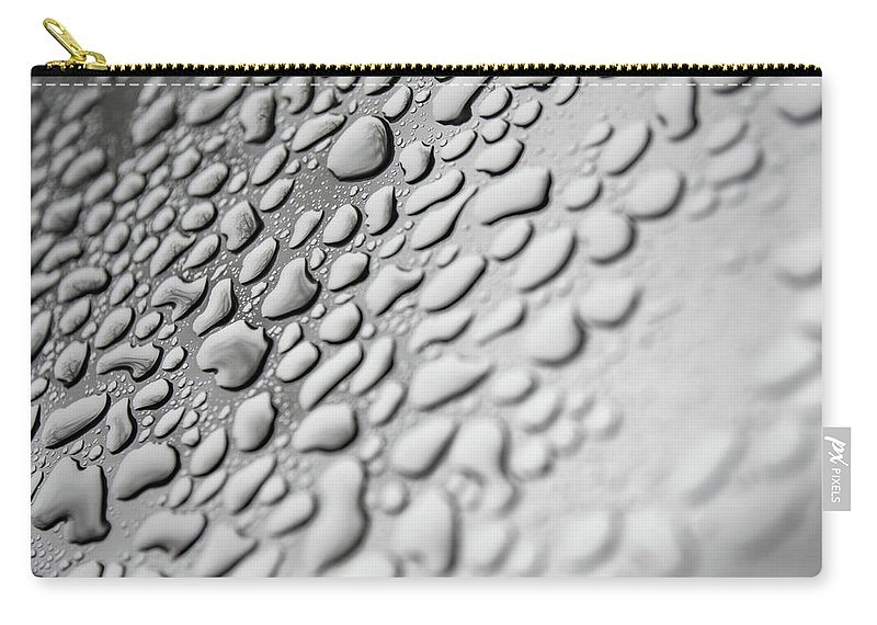 Water Carry-all Pouch featuring the photograph Raindrops by Art Wager