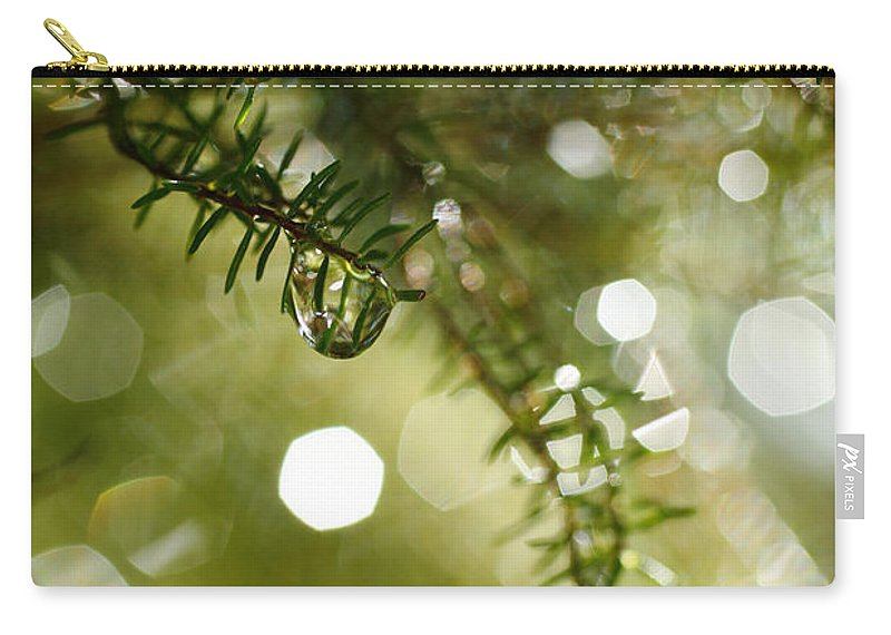 Dew Carry-all Pouch featuring the photograph Raindrops by Gaspar Avila