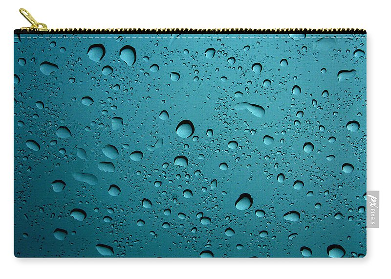 Abstract Carry-all Pouch featuring the photograph Raindrops by Linda Sannuti
