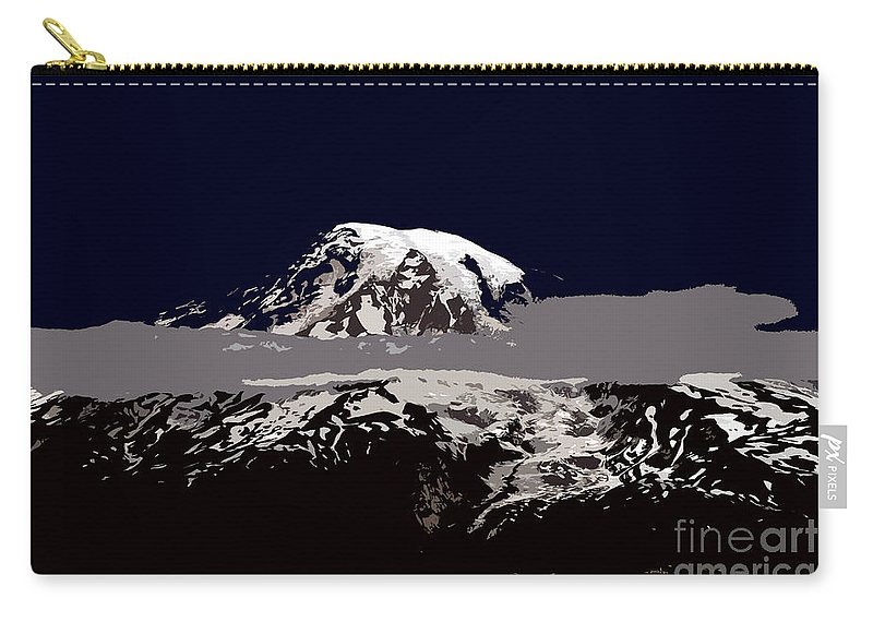 Mt Rainier Carry-all Pouch featuring the painting Rainier by David Lee Thompson