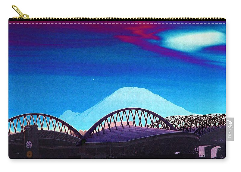 Seattle Carry-all Pouch featuring the photograph Rainier Over Sodo by Tim Allen