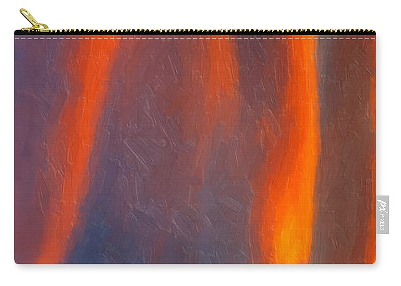 Abstract Carry-all Pouch featuring the painting Raining Down by David Millenheft