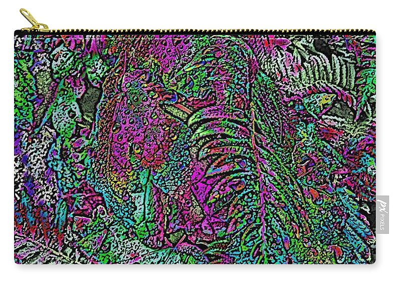 Weather Carry-all Pouch featuring the digital art Rainy Day Delight 1 by Tim Allen