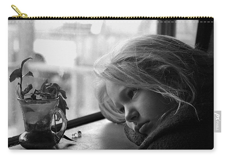 Sad Face Carry-all Pouch featuring the photograph Rainy Day by Peter Piatt